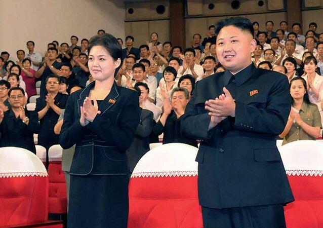 Kim Jong Un et Ri Sol Ju