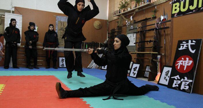 Femmes iraniennes ninjutsu