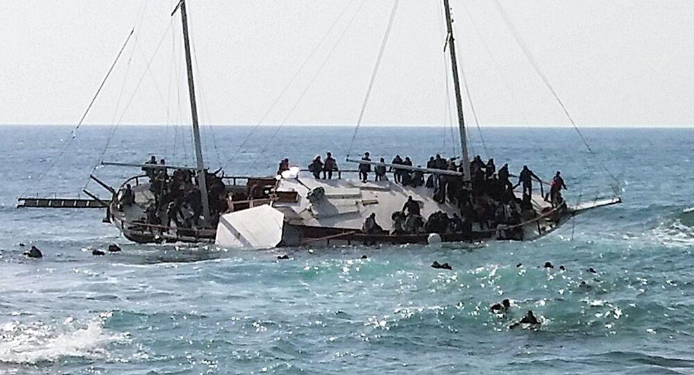 Migrants essayant de se réfugier en Grèce