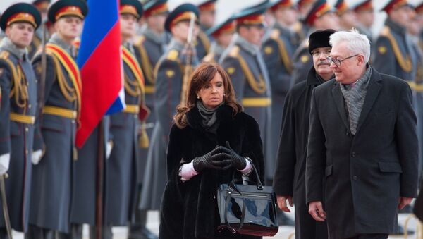 Argentine President Cristina Fernandez de Kirchner arrives in Moscow - Sputnik France