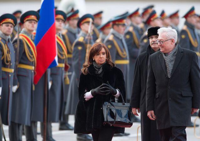 La présidente argentine Cristina Fernandez de Kirchner est arrivée à Moscou