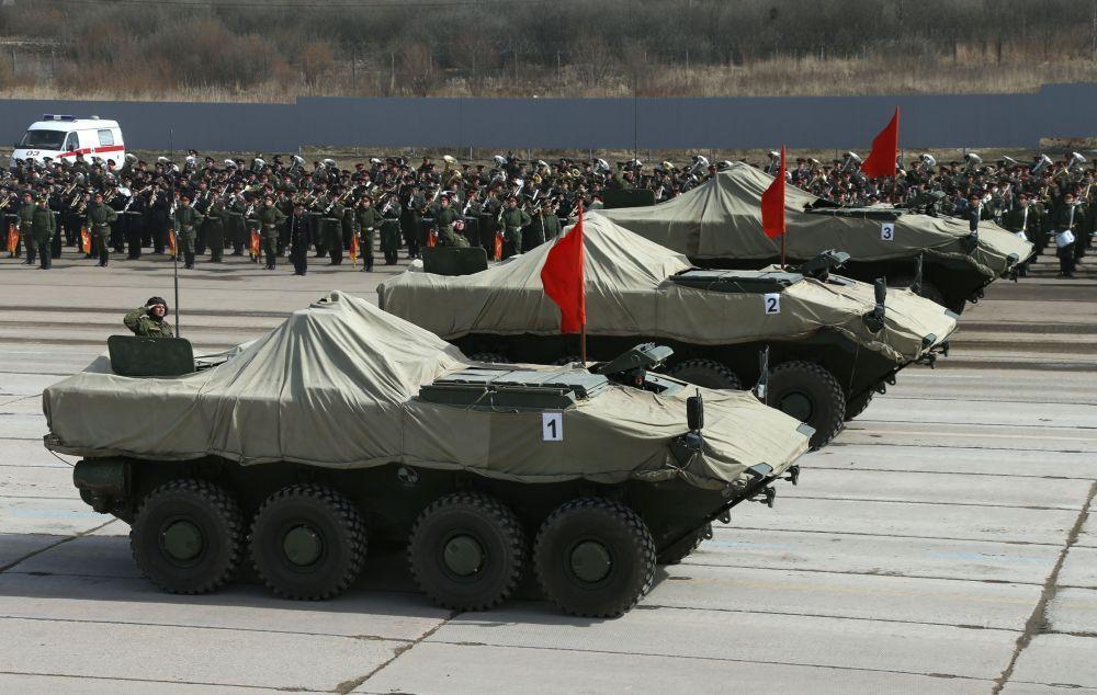 Des véhicules de combat d'infanterie Boomerang