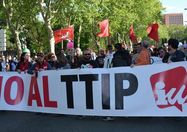 Manifestations contre le TTIP