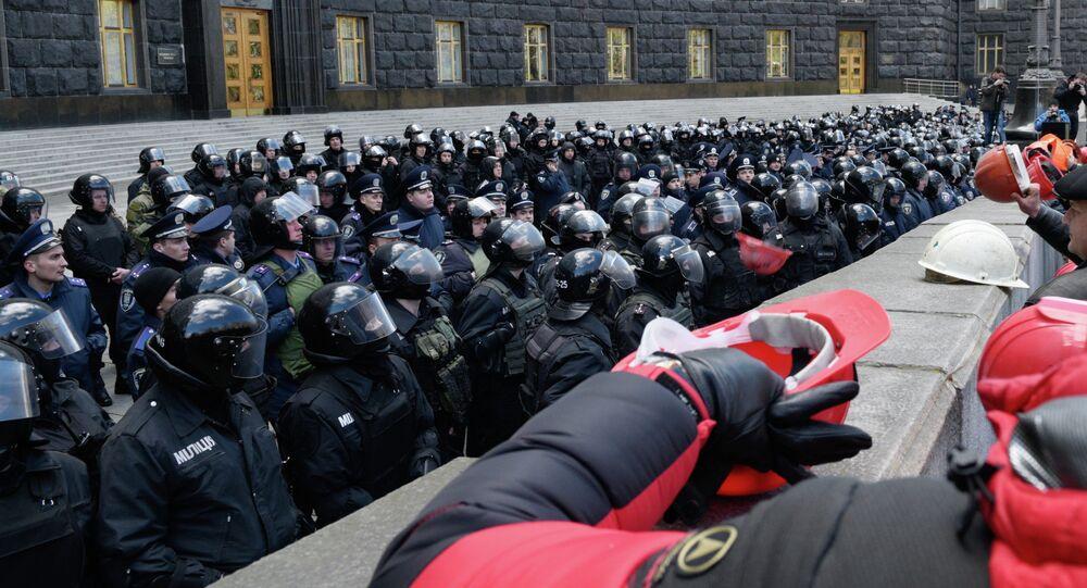 Manifestations des mineurs ukrainiens à Kiev