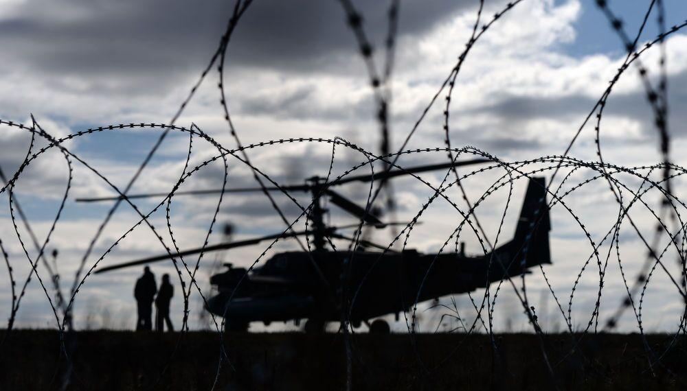 Un hélicoptère Ka-52 sur l'aérodrome militaire de Koubinka