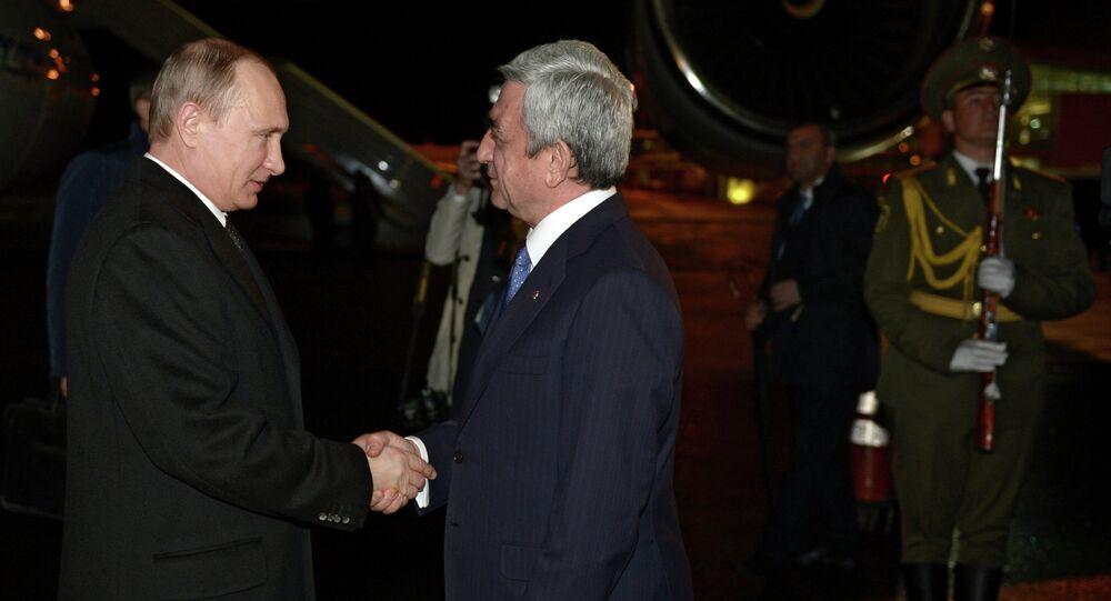 Vladimir Poutine et Serge Sargsian