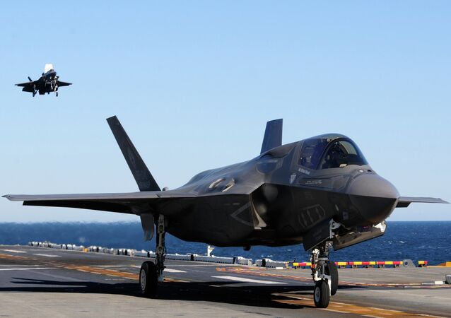 Un chasseur-bombardier américain Lockheed F-35