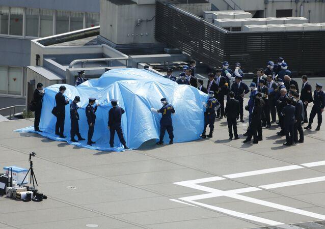 Drone découvert sur le toit de la résidence du premier ministre japonais Shinzo Abe