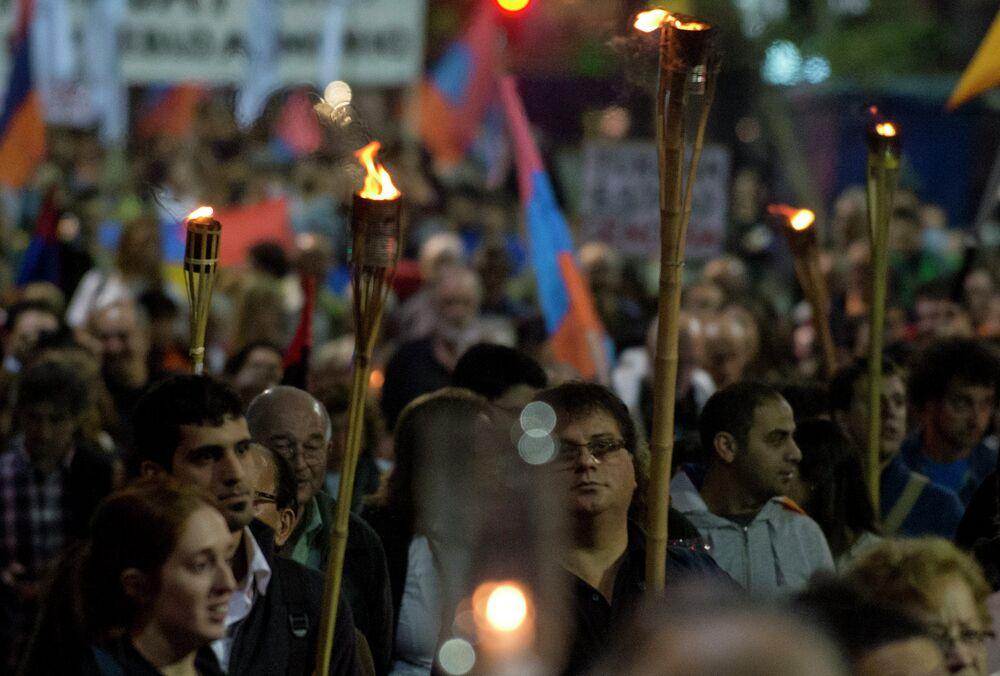 Hommage aux victimes du génocide arménien