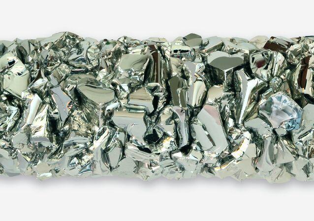 Lingot de hafnium cristallisé