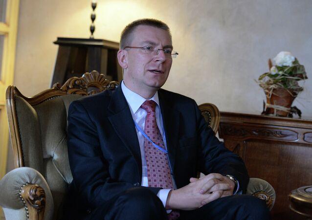 Ministre letton des Affaires étrangères  Edgar Rinkevics