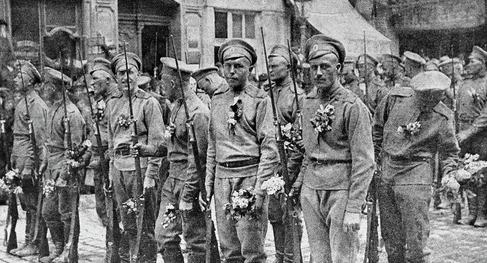 Soldats russes en France en 1916