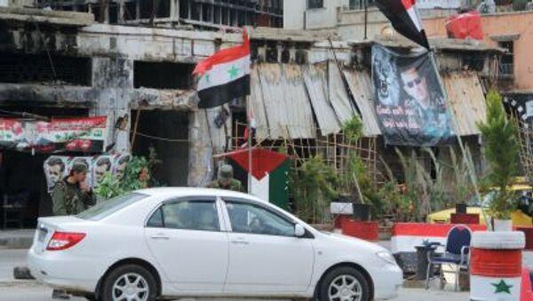Un puesto de control del Ejército sirio en el centro de Homs - Sputnik France