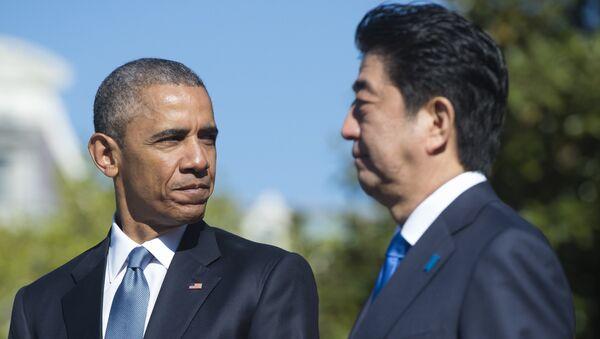 US President Barack Obama and Japanese Prime Minister Shinzo Abe - Sputnik France