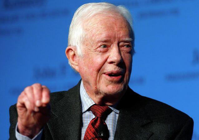 L'ancien président des Etats-Unis Jimmy Carter