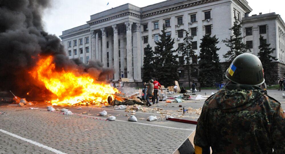 Plus de 40 personnes ont été brûlées vives le 2 mai 2014 à Odessa après s'être réfugiées dans la Maison des syndicats incendiée