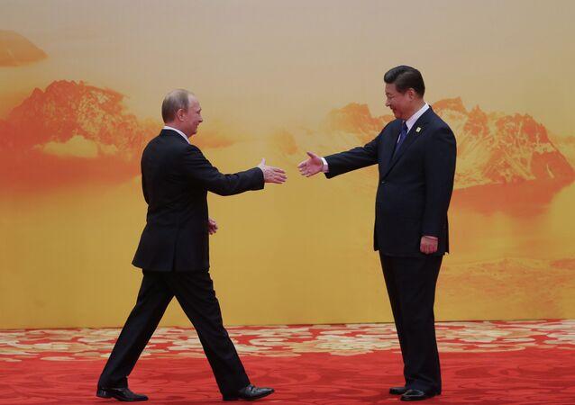 Vladimir Poutine et  Xi Jinping. Archive photo