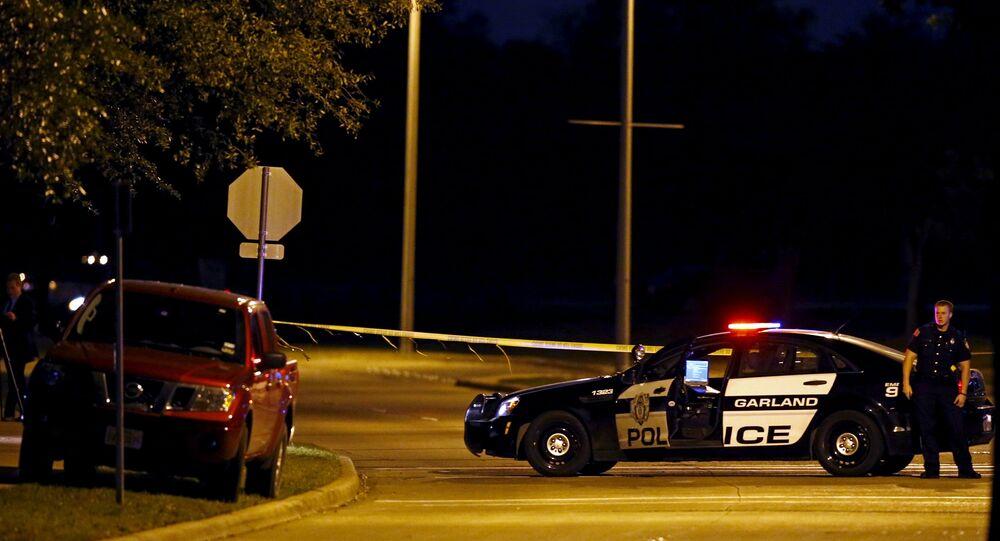 Police au Texas, image d'illustration