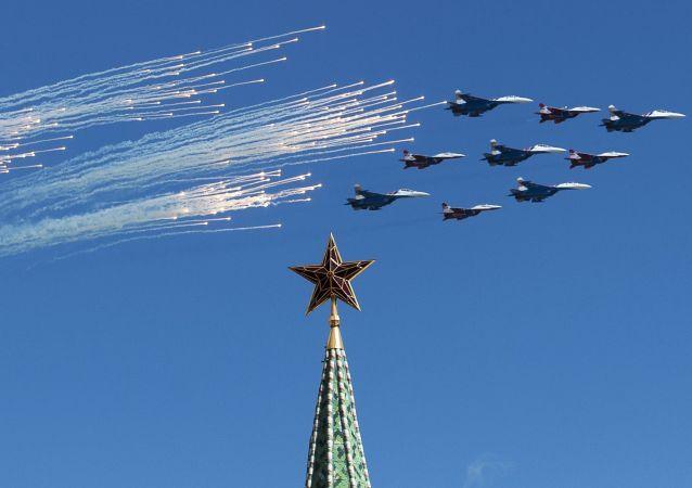 L'aviation russe se prépare au Défilé de la Victoire à Moscou