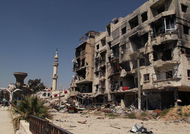 Région syrienne près de Damas