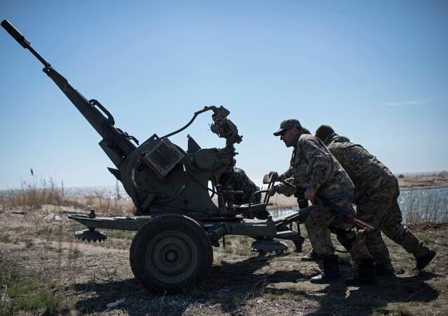 Militaires ukrainiens à Chirokino