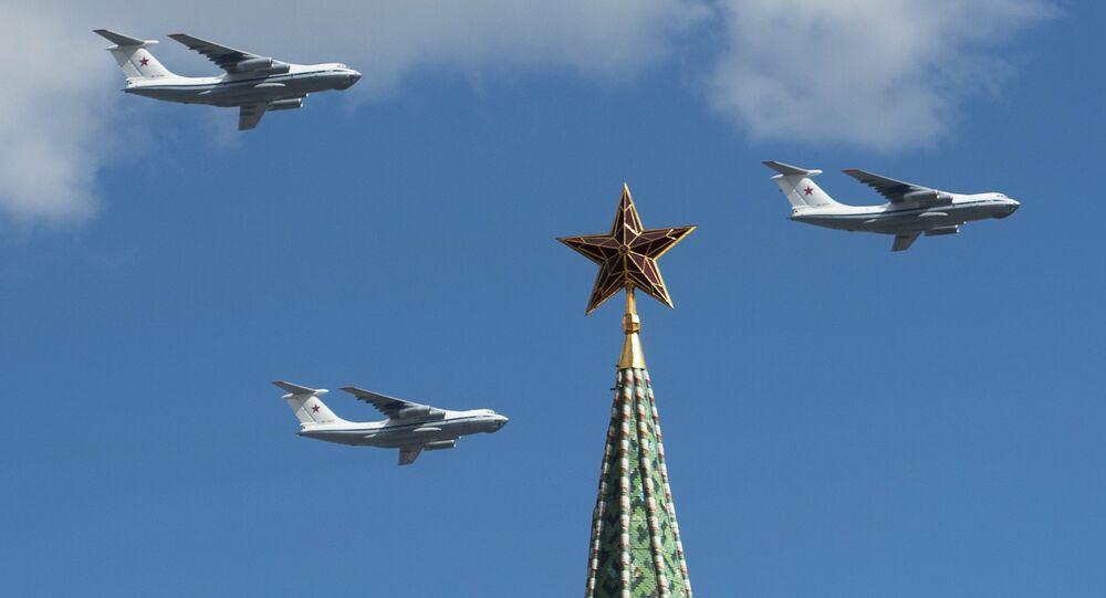 Répétition du défilé de la Victoire à Moscou
