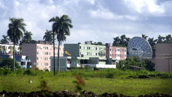 A Russian radar station is seen in Lourdes, about 12 miles south of Havana, Cuba Wednesday Oct. 17, 2001. - Sputnik France