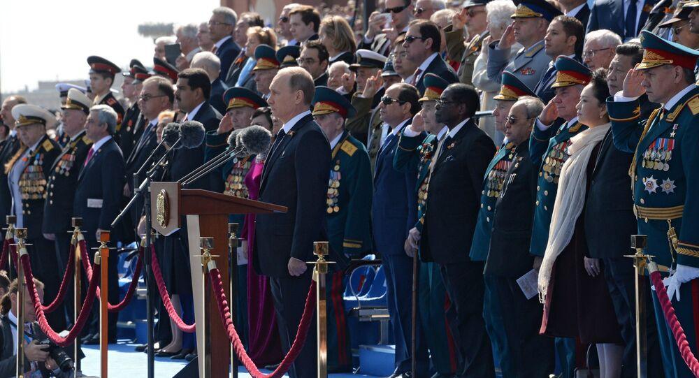 Vladimir Poutine lors du défilé de la Victoire