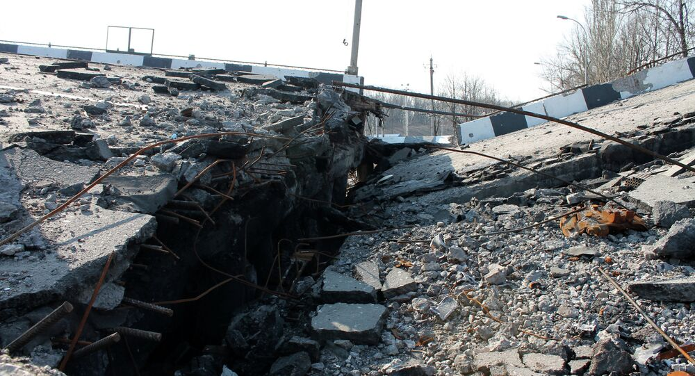 Destructions dans le Donbass