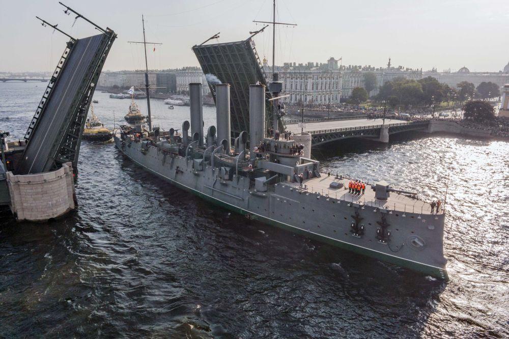 Croiseur Aurore à Saint-Pétersbourg