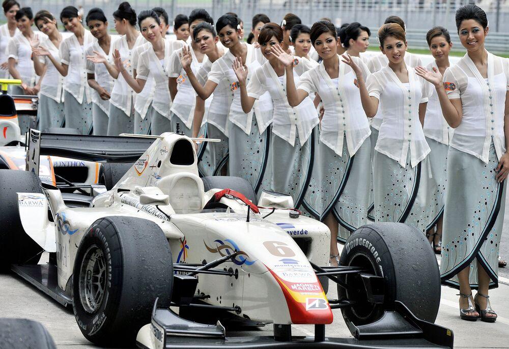Les grid-girls de Formule 1 en Malaisie, 2008