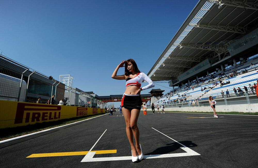 Grid-girls lors du Grand Prix de Corée du Sud à Yeongam (2011)