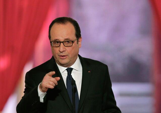 Président français François Hollande