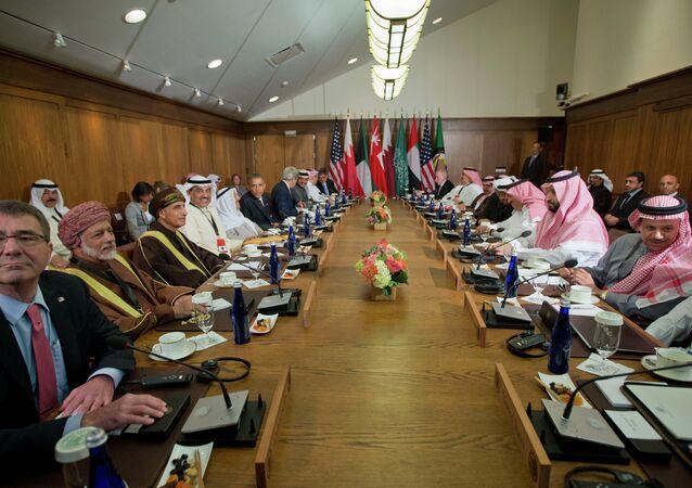 Rencontre à Camp David avec les dirigeants des six pays du Conseil de coopération du Golfe