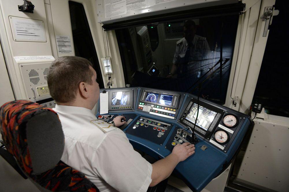 Un conducteur de métro