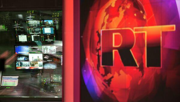 Control room of the Russia Today English-language newsroom. - Sputnik France