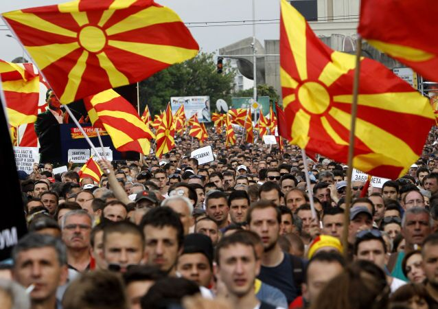 Protestations à Skopje