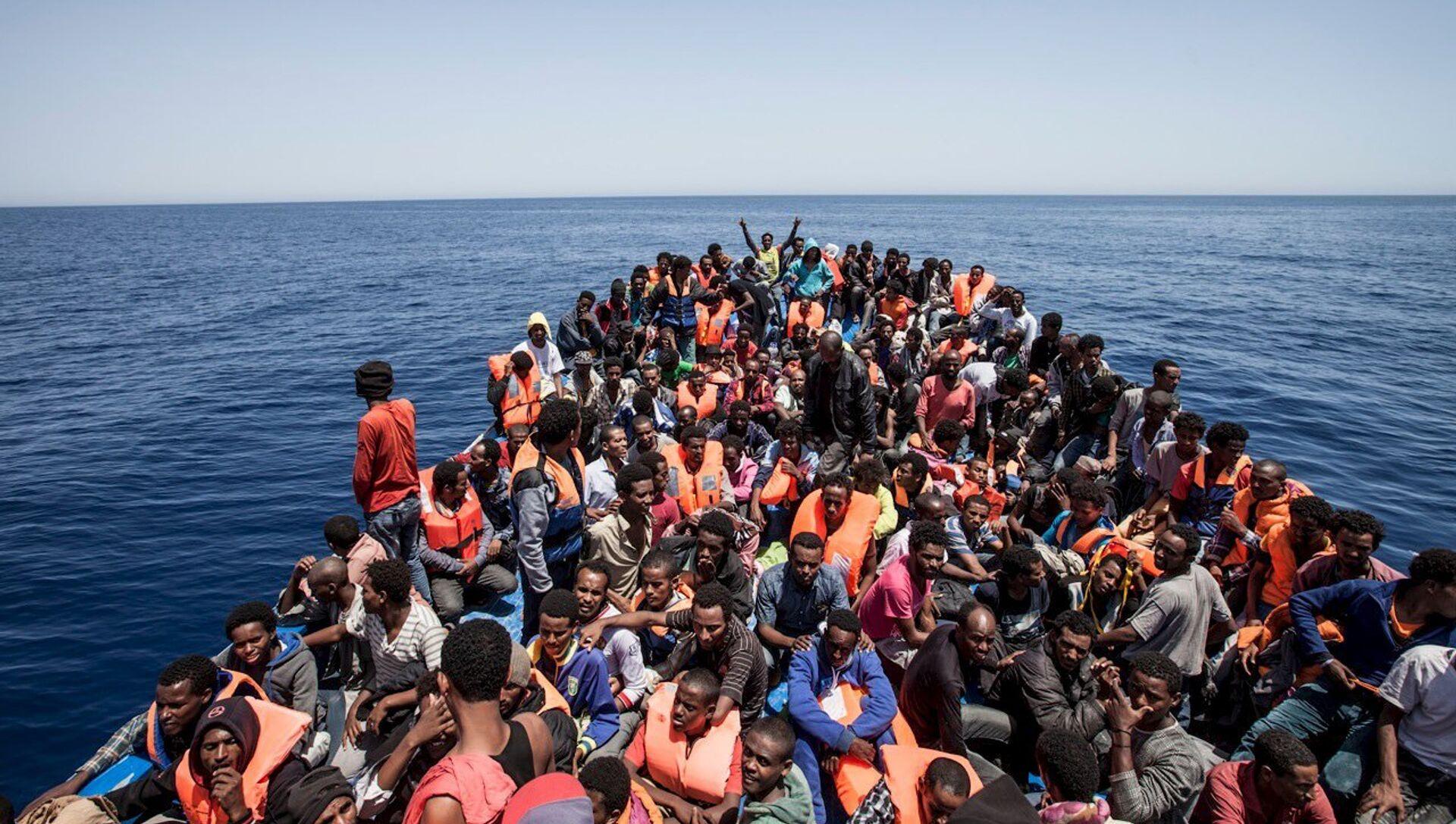 Migrants au large de la Libye, archives - Sputnik France, 1920, 31.08.2021