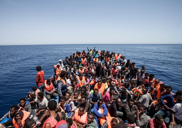 Migrants au large de la Libye, en 2015