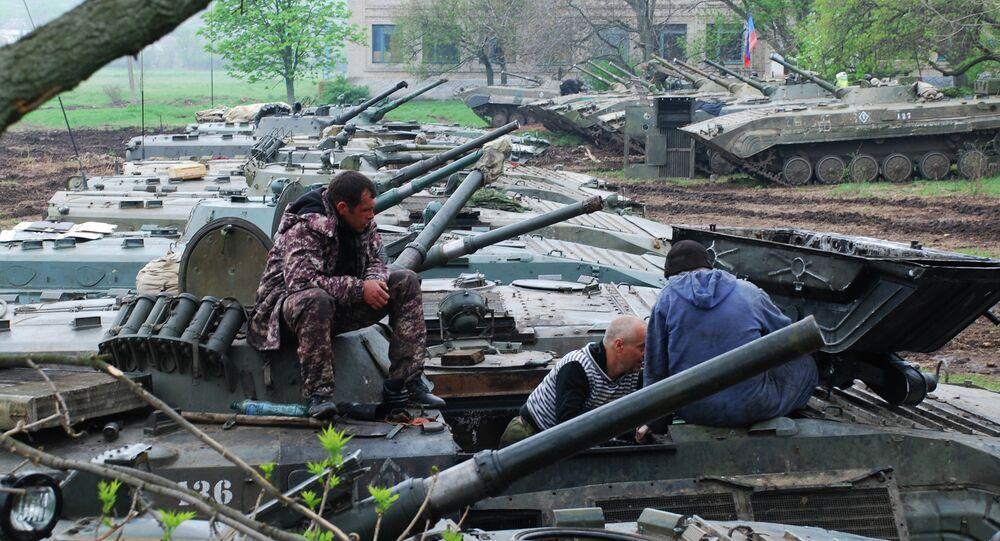 Exercices des insurgés de Donetsk