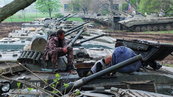 Учения мотострелкового батальона Викинги ополчения ДНР - Sputnik France
