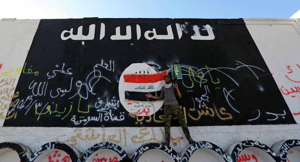 Drapeau utilisé par le groupe terroriste Etat islamique