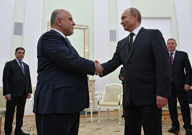 Le premier ministre irakien Haïder al-Abadi et le président russe Vladimir Poutine