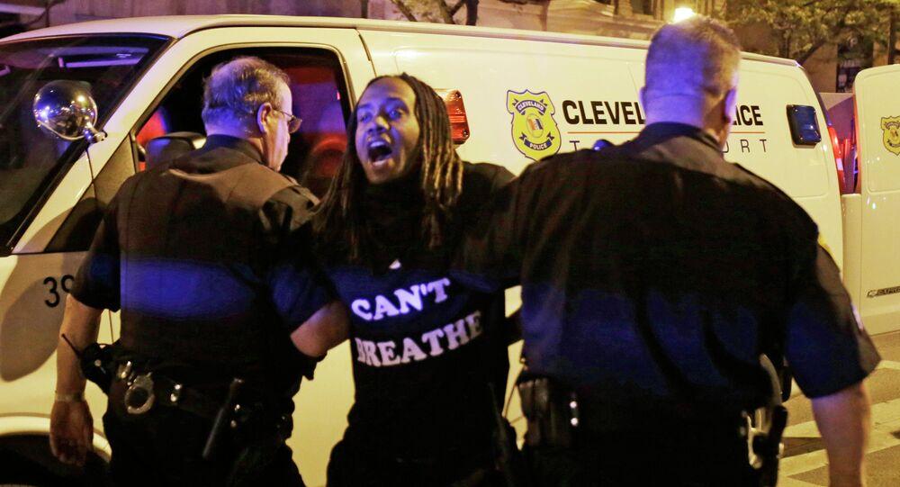 Arrestation d'un protestataire à Cleveland