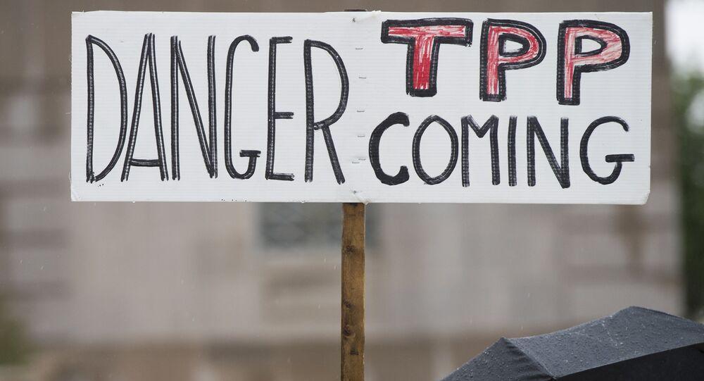 Protestations contre le TPP