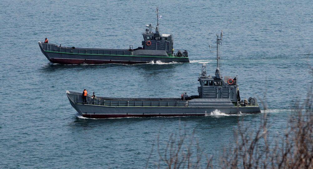 Manœuvres navales. Kraï du Primorié. Archive photo