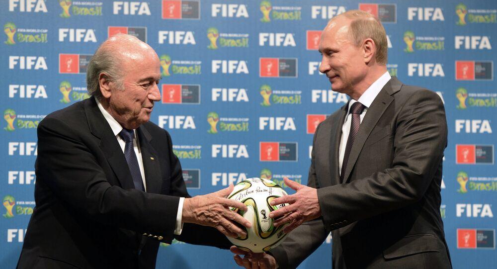 Vladimir Poutine et Joseph Blatter. Archive photo