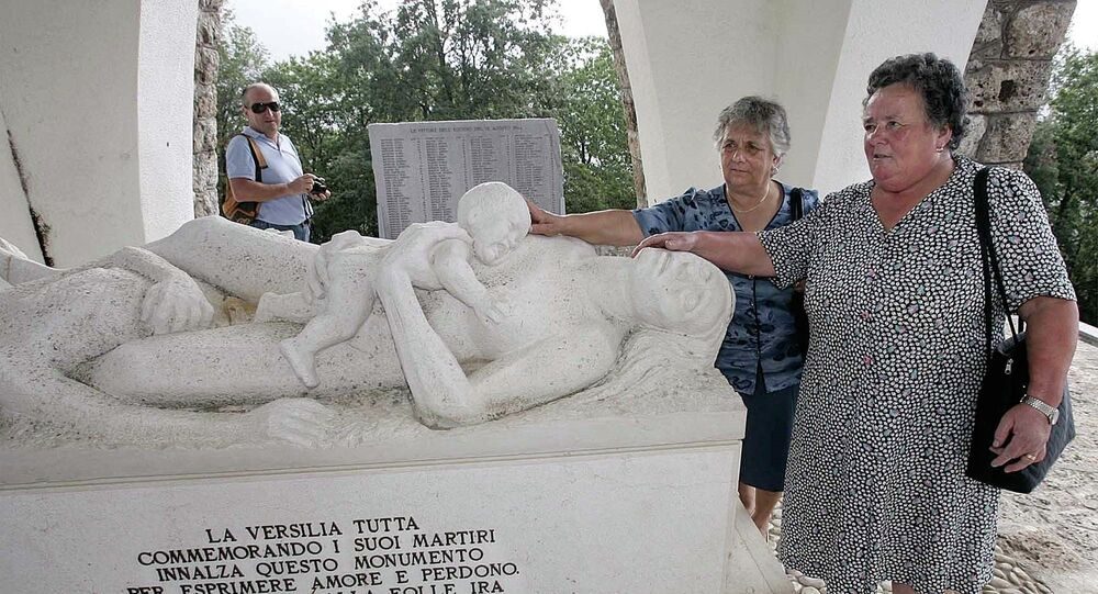 Monument ossuaire de Sant'Anna di Stazzema, en Toscane. Archive photo