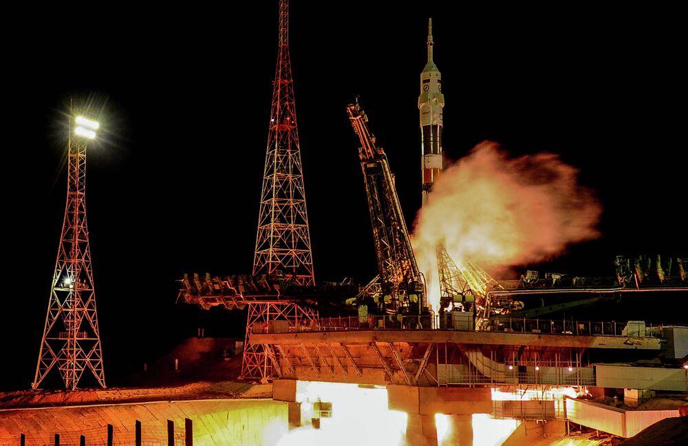 Un lancement de la fusée Soyouz-FG