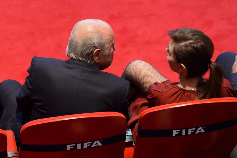 Joseph Blatter et sa compagne Linda Barras